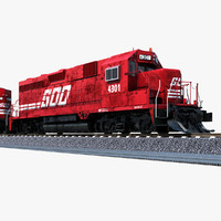 Locomotive GP30C SOO 4301 (Full Scene)