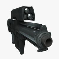 3d xm25 grenade launcher model