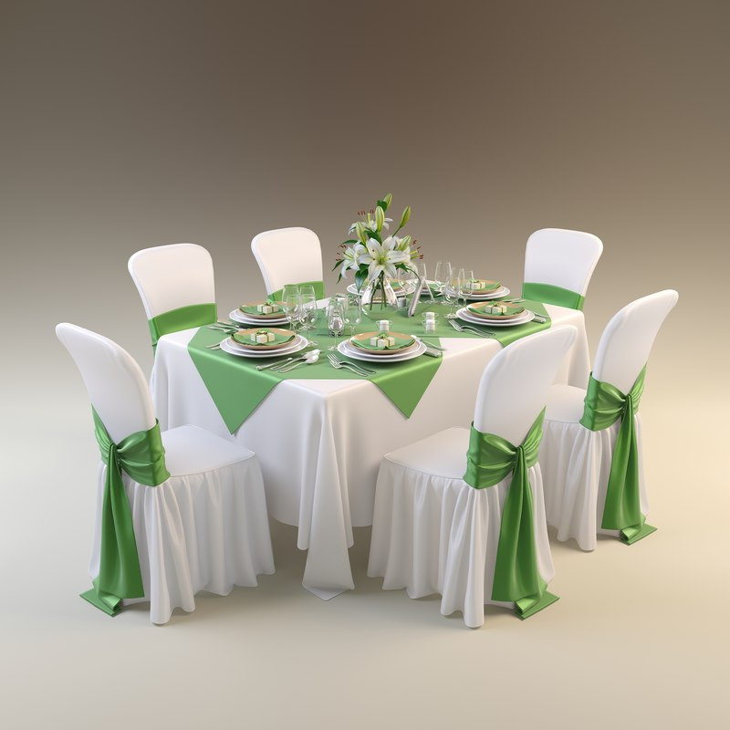 August 2014 Cpo Offers Table Jpg: 3d Model Table Restaurant