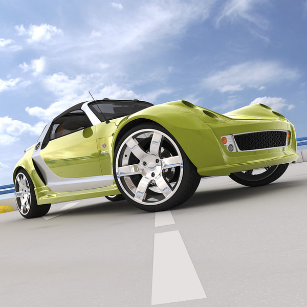 Cinema4d Smart Roadster Brabus Sedan