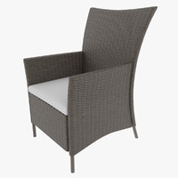 3d 3ds luxury wicker chair