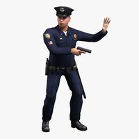 3ds rigged policeman