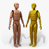 crash test dummy 3d max