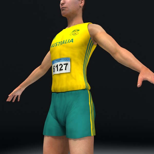 3d track field athlete model - Athlete Track and Field... by ES3DStudios
