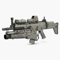 3ds combat assault rifle fn scar