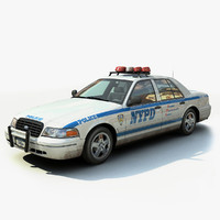 new york police interceptor 3d max