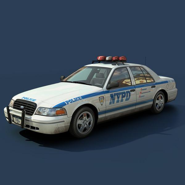 new york police interceptor 3d max. Black Bedroom Furniture Sets. Home Design Ideas
