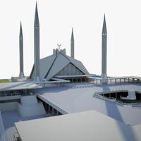 3d model mosque faisal