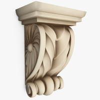 classical interior wall 3d model