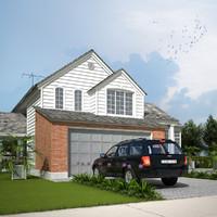 house garden 3d 3ds