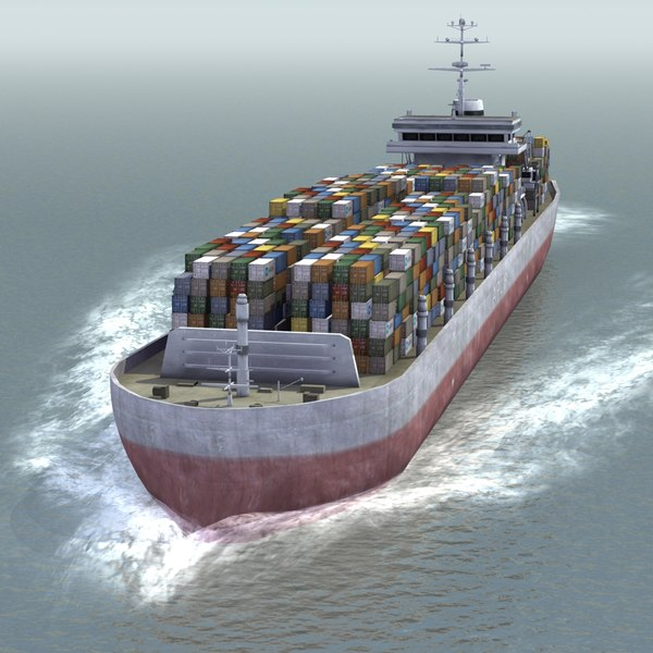 container ship 3d 3ds