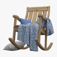3d garden rocking chair model