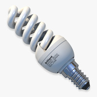 E14 Helical Fluorescent Light Bulb