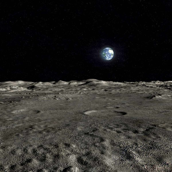 lunar landscape looking at earth - photo #8