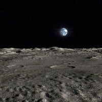 scene moon surface landscape