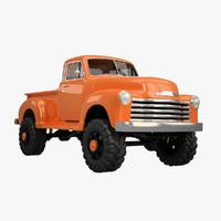 3d model vintage pickup lift