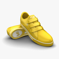 3d yellow sport shoes