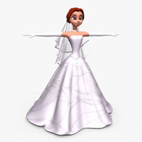 Beautiful Cartoon Bride