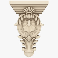 3d model classical decoration interior