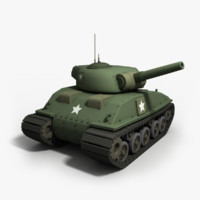 cartoon tank sherman - 3d max
