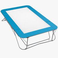 3d model gymnastics trampoline