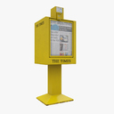 Newspaper Street Dispenser 3D models