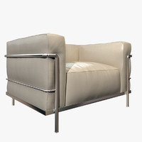 3d photorealistic lc3 armchair cassina