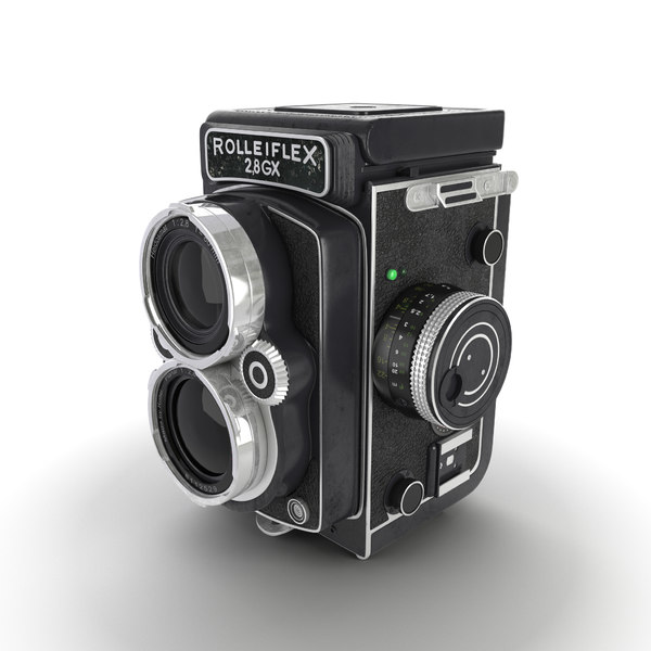 rolleiflex camera obj - Rolleiflex Camera... by Stubborn3D