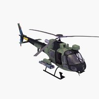 3d fennec helicopter model