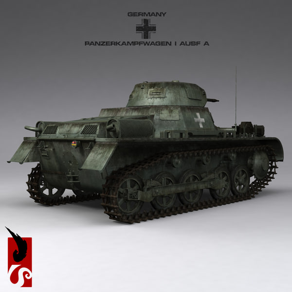 3ds max german wwii panzerkampfwagen ausf - German WWII Panzerkampfwagen I Ausf A Sd.Kfz.101 Light Tan... by IllumeStudio