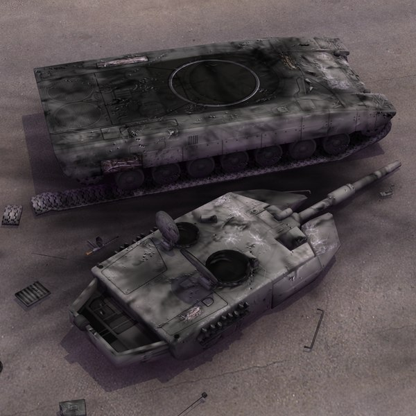 maya wrecked battle tank