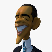 Barack Obama Caricature Rigged