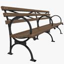 park bench 3D models