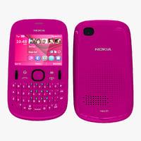 Nokia Asha 201 Pink 2