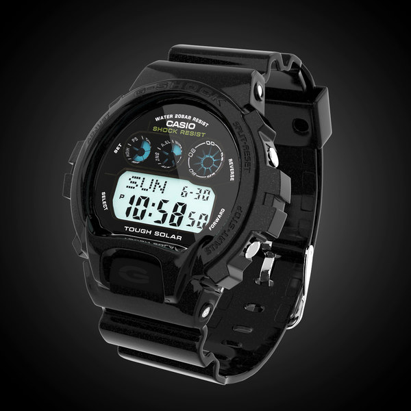 casio g-shock gw-6900 3d model - Casio G-Shock GW-6900 Metallic... by gtalon