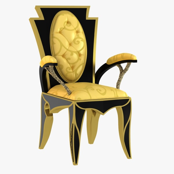 armchair secolo mondo 3d model