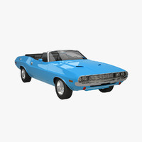 dodge challenger convertible 3d model