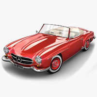 3d mercedes benz 190 sl