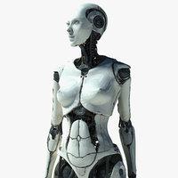 female cyborg elettra 3d max