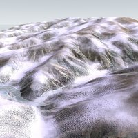 3d snowy mountain snow landscape model