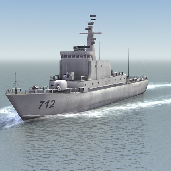 chinese navy haiqing patrol boat 3d model