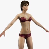 slim female anatomy 3d max