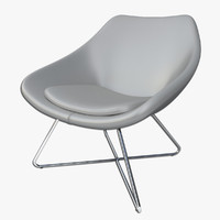 maya allermuir open lounge chair