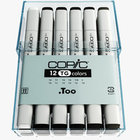 3d model toner gray copic markers