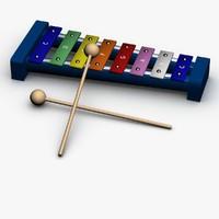 3d xylophone model