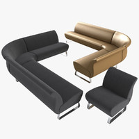 fly couches chair sofa 3d model