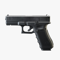 3dsmax glock 17 9mm pistol