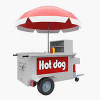 New York Hot Dog Shop Stand