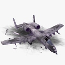 wrecked plane 3D models