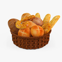 basket bread 3d model